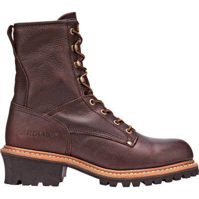 Carolina Men's Steel Toe Logger Boots - 8in., Size 10, Model# 1821