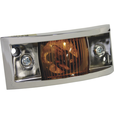 Blazer Incandescent Armored Clearance and Side Marker Trailer Light — 4 7/8in., Amber, Model# B478A