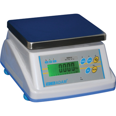 Adam Equipment WBW Wash Down Scale — 18-Lb. Capacity, 0.002-Lb. Display Increments, Model# WBW 18A