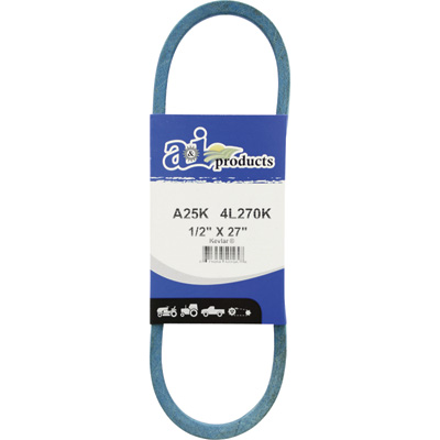 A & I Products Blue Kevlar V-Belt with Kevlar Cord — 27in.L x 1/2in.W, Model# A25K/4L270K