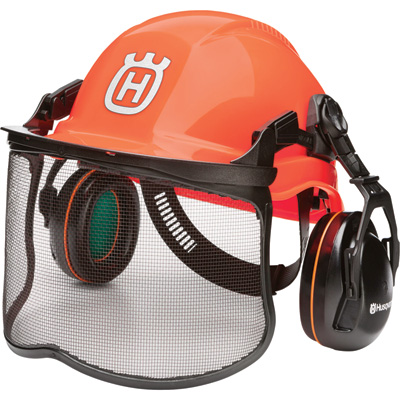 Husqvarna Pro Forest Helmet and Face Shield System with Hearing Protection
