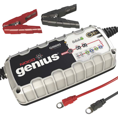 """NOCO Genius Wicked Smart Multi-Purpose Battery Charger - 26 Amp, 12/24 Volt, Model# G26000"""