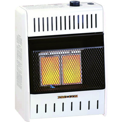 """ProCom Vent-Free Dual Fuel Infrared Radiant Wall Heater - 2-Plaque, 10,000 BTU, Model# MD2TPA"""