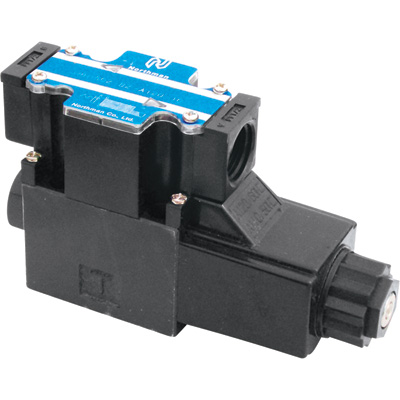 Northman Fluid Power Hydraulic Directional Control Valve – 16.8 GPM, 4500 PSI, 2-Position, Spring Offset, 120 Volt AC Solenoid, Model# SWH-G02-B2-A120-10