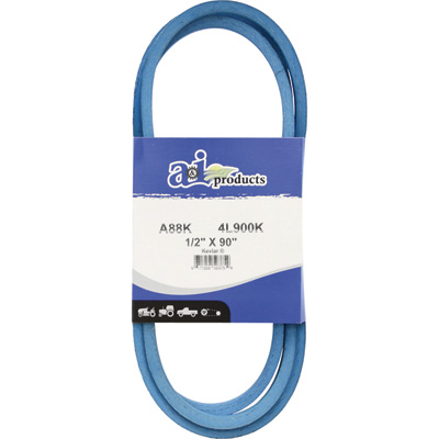 A & I Products Blue Kevlar V-Belt with Kevlar Cord — 90in.L x 1/2in.W, Model# A88K/4L900K