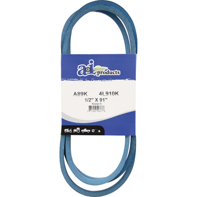 A & I Products Blue Kevlar V-Belt with Kevlar Cord — 91in.L x 1/2in.W, Model# A89K/4L910K
