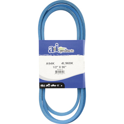 A & I Products Blue Kevlar V-Belt with Kevlar Cord — 96in.L x 1/2in.W, Model# A94K/4L960K