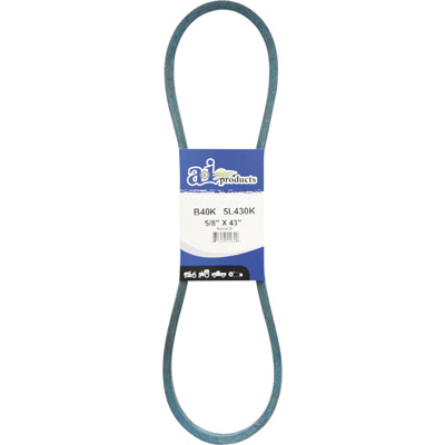 A & I Products Blue Kevlar V-Belt with Kevlar Cord — 43in.L x 5/8in.W, Model# A40K/4L430K