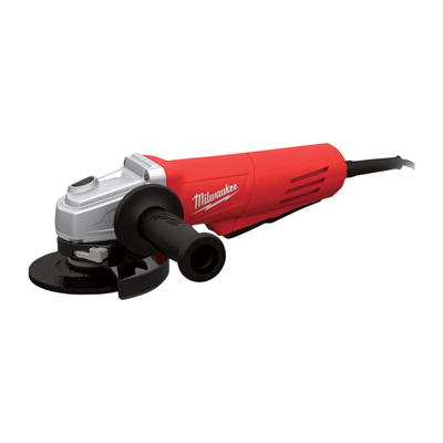 """FREE SHIPPING - Milwaukee 4 1/2in. Grinder - 11 Amp, Paddle, Lock-On, Clutch, Grinding Wheel, Model# 6146-30"""