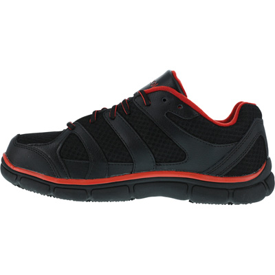 Reebok Men's Work Sport Grip Athletic Safety Toe Shoes — Black/Red, Size 9 1/2,  Model# RB2204