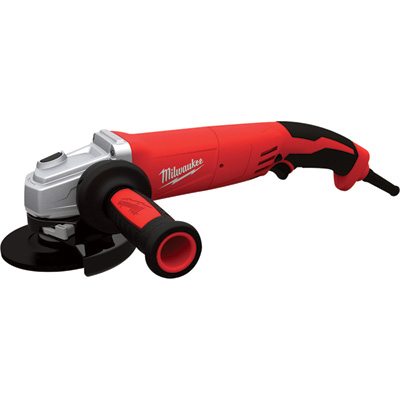 FREE SHIPPING — Milwaukee 5in. Grinder — 13 Amp, Trigger Grip, Non-Locking, Clutch, Model# 6124-31