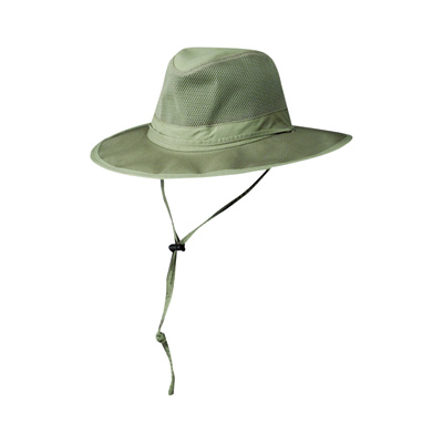 Men's Nylon Vented Outback Hat - Fossil, Large, Model# MC62