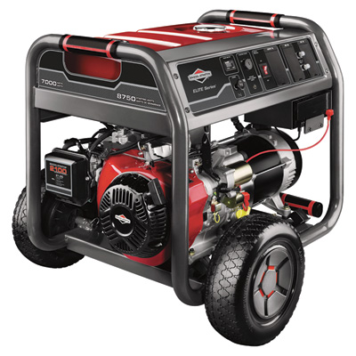 Briggs & Stratton Portable Generator - Electric Start, 8750 Surge Watts, 7000 Running Watts, Model# 30470