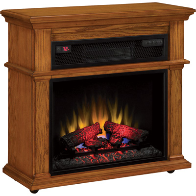 """Duraflame Infrared Rolling Mantel - 5200 BTU, 1500 Watts, Model# 23IF1714-O107"""