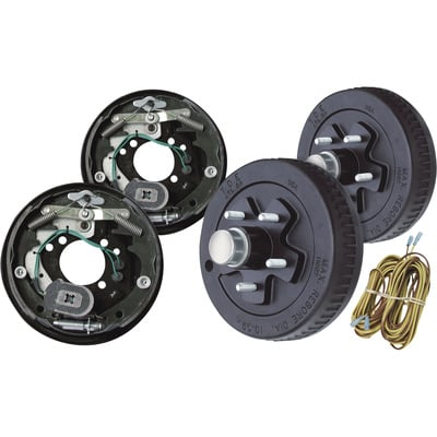 """Tow Zone Electric Drum Brake Kit - Pair, 10in., Model# 56125"""