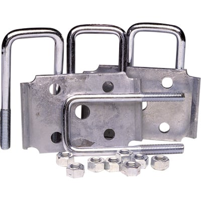 """Ultra-Tow Tie Plate U-Bolt Set - Fits 2in. Square Axles, 2000-Lb. Capacity, Model# 56117"""