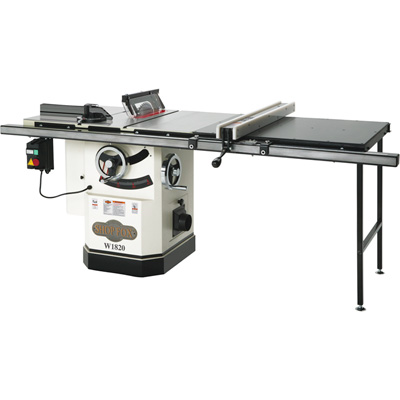 """FREE SHIPPING Shop Fox Cabinet Saw with Riving Knife - 10in., Model# W1820"""