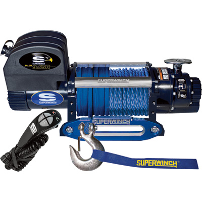 Superwinch 12 Volt DC Powered Electric Truck Winch with Remote — 9500-Lb. Pulling Capacity, Synthetic Rope, Model# 1695201