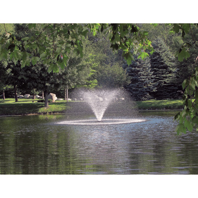 Scott aerating fountain 3 4 hp up to 1 acre ponds for 1 acre pond design