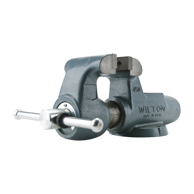 Wilton Serrated Machinist Milling Bench Vise — 8in. Jaw Width, Stationary Base, Model# 800N
