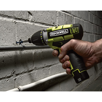 """FREE SHIPPING - Rockwell LithiumTech 3rill Cordless 3-in-1 Drill/Driver/Impact Driver - 12 Volt, 1/4in., Model# RK2515K2"""