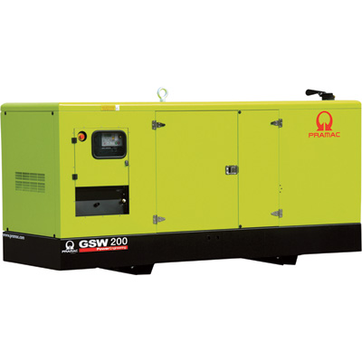 """Pramac Commercial Standby Generator - 173 kW, 120/208 Volts, Perkins Engine, Model# GSW200P"""