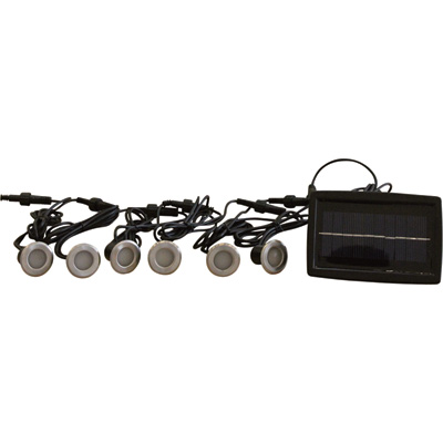 """Lighting Essentials LED Solar Deck Lights - 6-Ct., Automatic Illumination, Model# HK-SL700-6"""