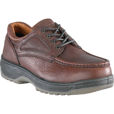 Florsheim Men's Steel Toe Lace-Up Oxford Work Shoes - Dark Brown, Size 8 1/2 Extra Wide, Model# FS2400