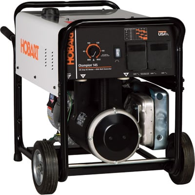 FREE SHIPPING - Hobart Champion 145 Welder/Generator - 145 Amp Output, 4500 Watts, Model# 500555