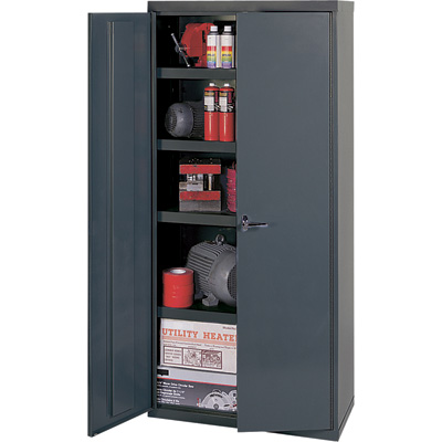 """Edsal Welded Vault Cabinet - 36in.W x 18in.D x 84in.H, Model# VC1503G"""