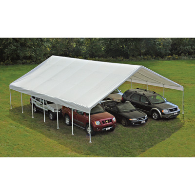 ShelterLogic Ultra Max Industrial Outdoor Canopy — 40ft.L x 30ft.W x 13ft.H, Model# 27773