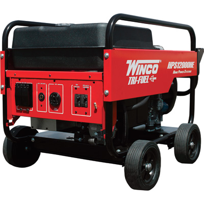 """Winco Portable Trifuel Generator - 12,000 Surge Watts, 10,800 Rated Watts, Electric Start, Model# 16612-000"""