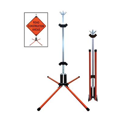 Dicke Dual Spring Sign Stand — For Rigid Signs, Model# STF18RGB