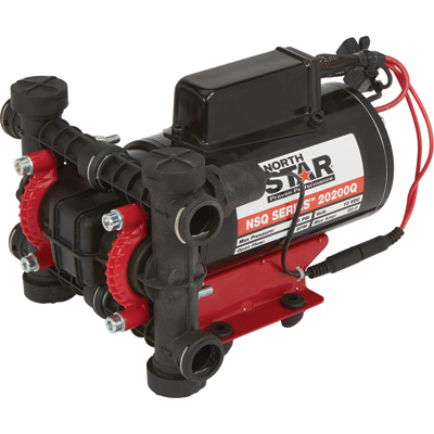 NorthStar NSQ Series On-Demand Plunger Sprayer Pump with Quick-Connect Ports — 2 GPM, 12 Volt, 200 PSI