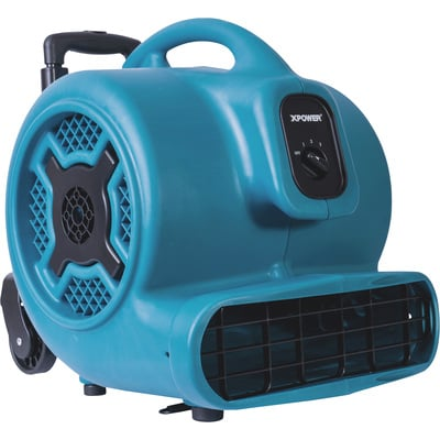XPower Air Mover with Wheels — 1 HP, 3,600 CFM, Model# X-830H