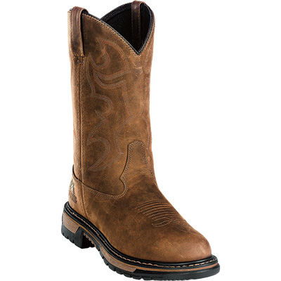 Rocky Men's 11in. Branson Roper Waterproof Wellington Boot - Brown, Size 8 Wide, Model# 2733