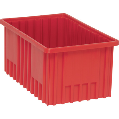Quantum Storage Dividable Grid Container — 8-Pack, 16 1/2in.L x 10 7/8in.W x 8in.H, Red, Model# DG92080RD