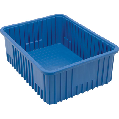 Quantum Storage Dividable Grid Container — 3-Pack, 22 1/2in.L x 17 1/2in.W x 8in.H, Blue, Model# DG93080BL