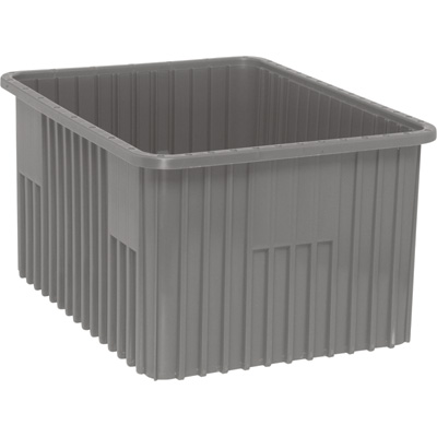 Quantum Storage Dividable Grid Container — 3-Pack, 22 1/2in.L x 17 1/2in.W x 12in.H, Gray, Model# DG93120GY