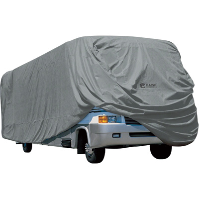 Classic Accessories PolyPro 1 Class A RV Cover — Fits 33ft.–37ft. RVs, Model# 80-164-191001-00