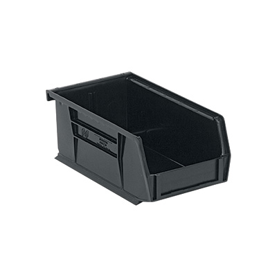 Quantum Storage Heavy Duty Stacking Bins — 7 3/8in. x 4 1/8in. x 3in. Size, Carton of 24
