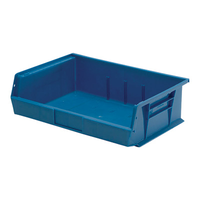 Quantum Storage Heavy Duty Stacking Bins — 11in. x 16 1/2in. x 5in. Size, Carton of 6