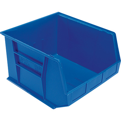 Quantum Storage Heavy Duty Stacking Bins — 18in. x 16 1/2in. x 11in. Size, Carton of 3