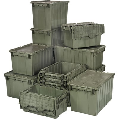 Quantum Storage Heavy Duty Attached Top Container — 20in. x 11 1/2in. x 7 1/2in. Size