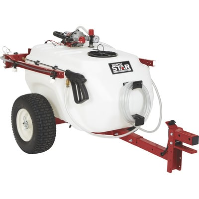 NorthStar Tow-Behind Trailer Boom Broadcast and Spot Sprayer — 41-Gallon Capacity, 4.0 GPM, 12V DC