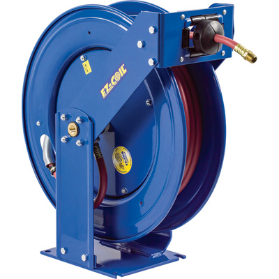 Coxreels Truck Series Hose Reel with EZ-Coil — With 3/8in. x 50ft. PVC Hose, Max. 300 PSI, Model# EZ-TSH-350