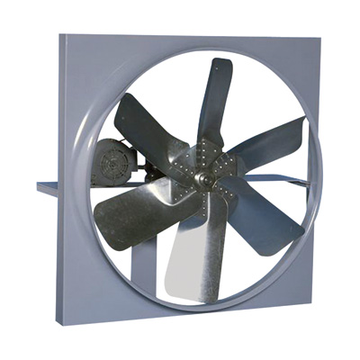 Canarm Belt Drive Wall Exhaust Fan with Cabinet, Back Guard and Shutter — 48in., 27,422 CFM, Single-Phase, Model# XB48CBS10300