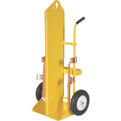 Vestil Welding Cylinder Cart — 500-Lb. Capacity, Pneumatic Wheels, Powder-Coat With Fire Protection, Model# CYL-EH-FP