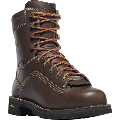 FREE SHIPPING — Danner Quarry 8in. Waterproof Gore-Tex Work Boots - Brown, Size 10 1/2, Model# 173057D