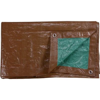 """Roughneck 3.4-Oz. Heavy-Duty Poly Tarp - Brown/Green, 10ft. x 12ft."""